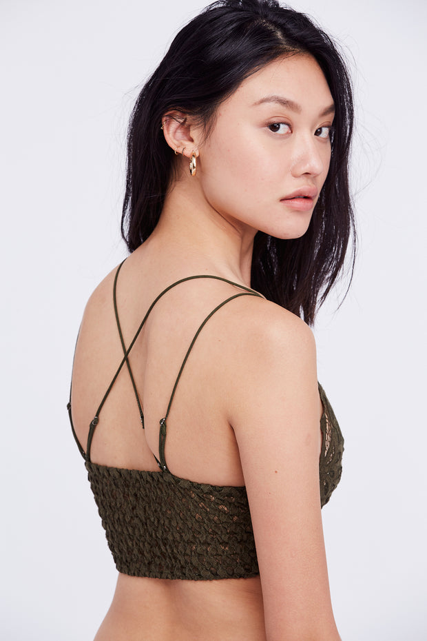 Free People One Bralette Adella Dark Army