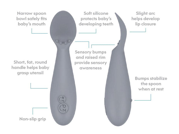 EZPZ Tiny Spoon 2 Pack Pewter