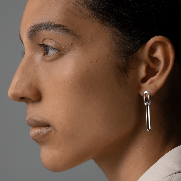 JENNY BIRD - Stevie Drop Link Earrings in Silver