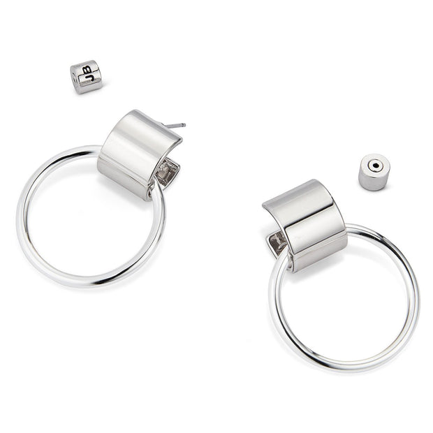 JENNY BIRD - Faye Knockers Earrings in Rhodium Silver