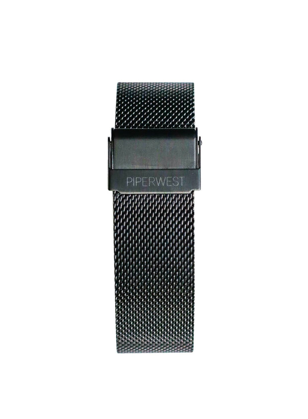 PiperWest - Mesh Minimalist 42mm in Matte Black