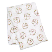 Lulujo Swaddle Blanket Bamboo Cotton Peace