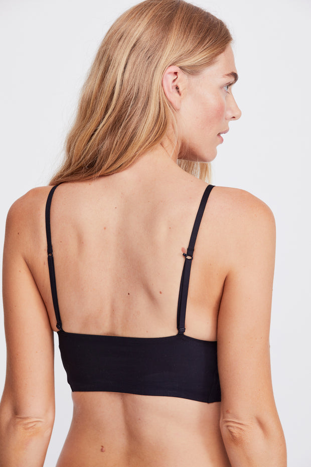 Free People Sage Longline Bralette Black