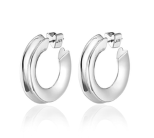 JENNY BIRD - Hidden Heart Hoop Earrings in Silver