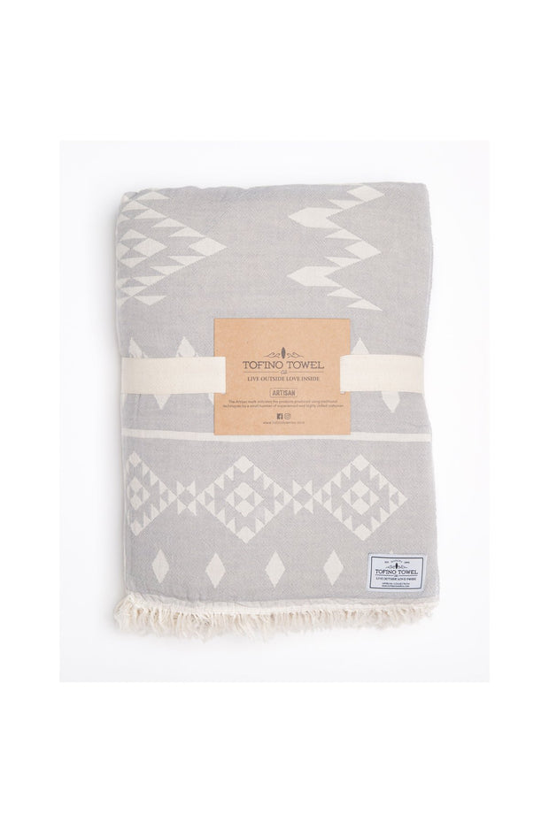 Tofino Towel - The Coastal Throw Pewter