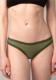 Blush Thong Basil