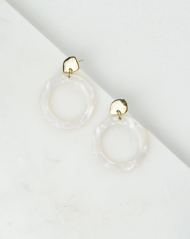 Lover's Tempo - Odessa Hoop Earrings White