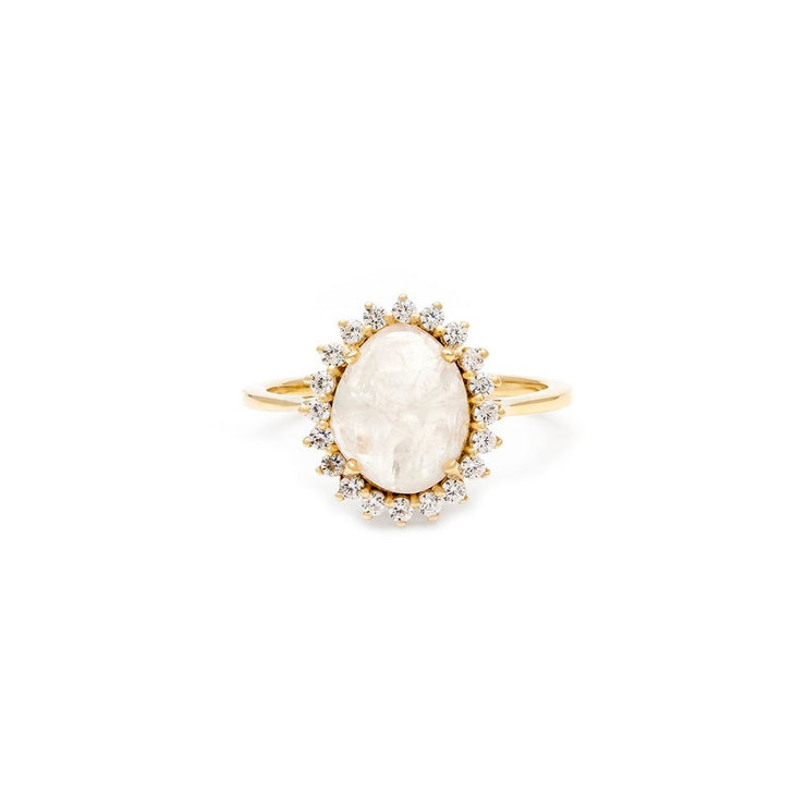 Leah Alexandra - Ring Antiquity Moonstone + Gold