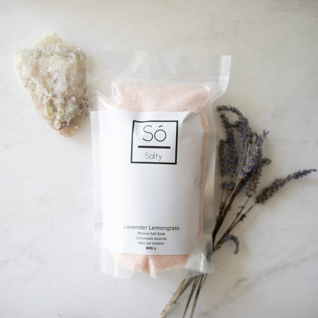 So Luxury - Salty Mineral Bath Soak Lavender Lemongrass