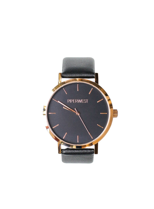 PiperWest - Classic Minimalist 42mm in Blackout and Black