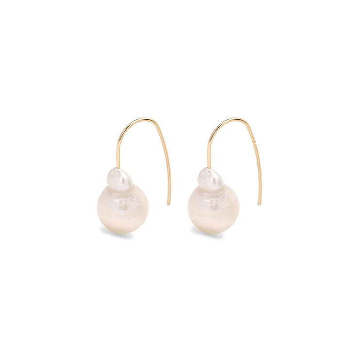 Pilgrim - Earrings Ama2_PI Irregular Fresh Water Pearl Gold Plated