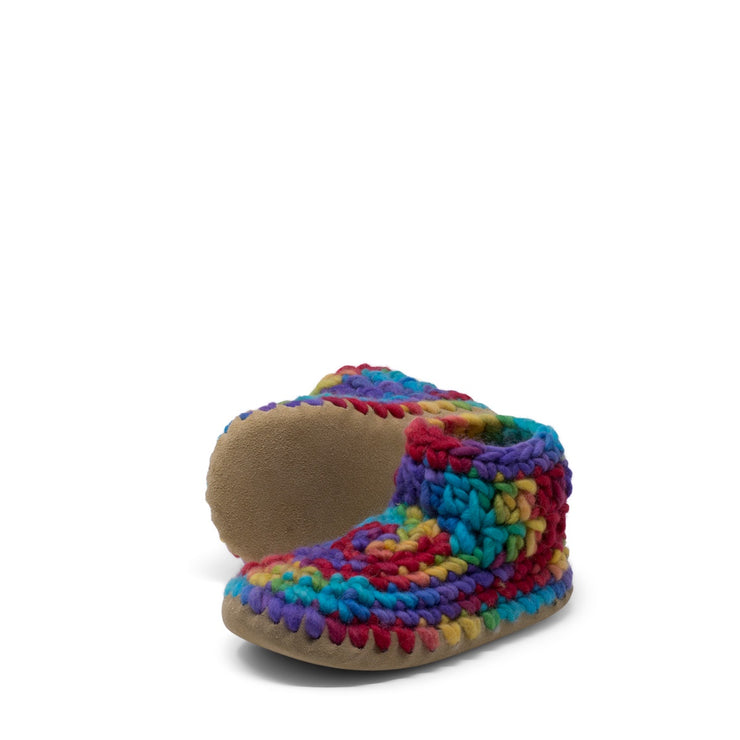 Padraig Cottage - Youth Size 1 Slippers Rainbow