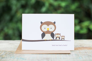 Halifax Paper Hearts Card - Look Hoo Had A Baby