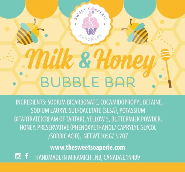 Sweet Soaperie - Bubble Bar Milk and Honey