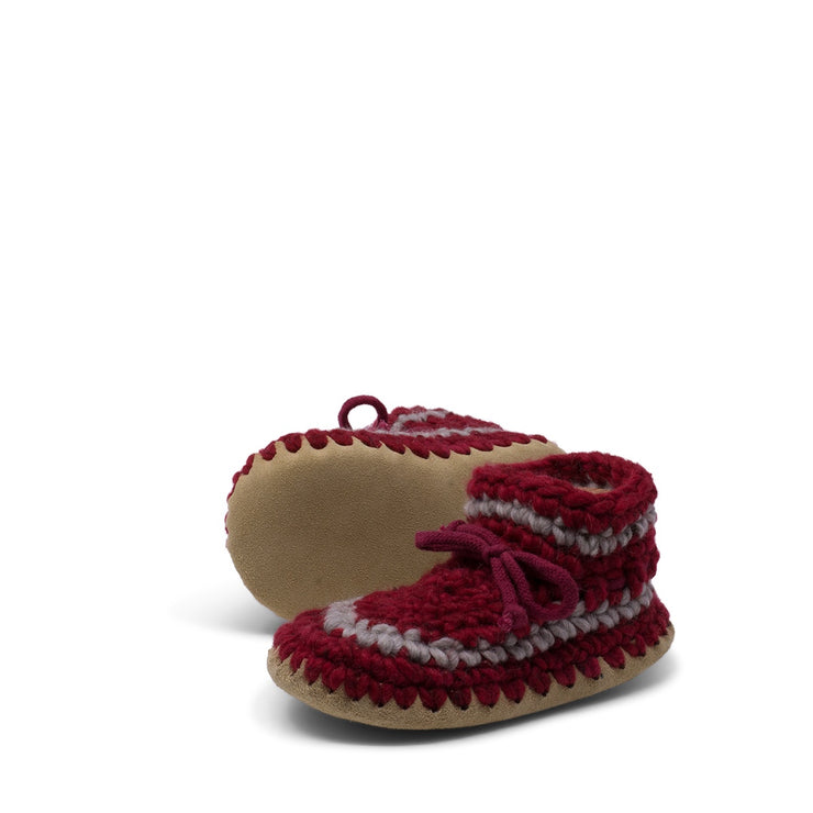 Padraig Cottage - Youth Size 1 Slippers Red Stripe