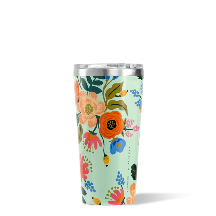 Corkcicle - Tumbler 16oz Rifle Paper Co. Mint Lively Floral