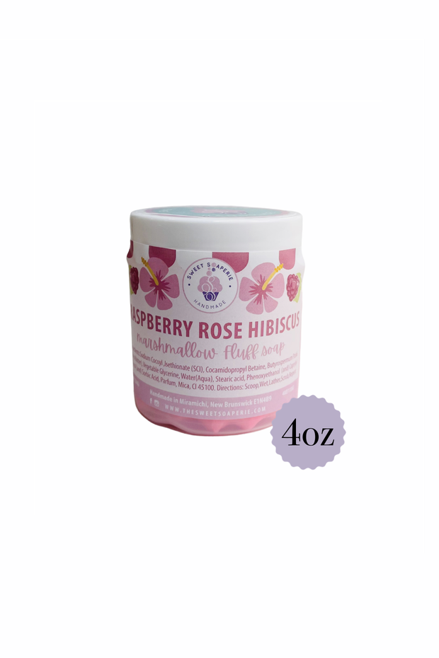 Sweet Soaperie - Marshmallow Fluff Soap 4oz Raspberry Rose Hibiscus