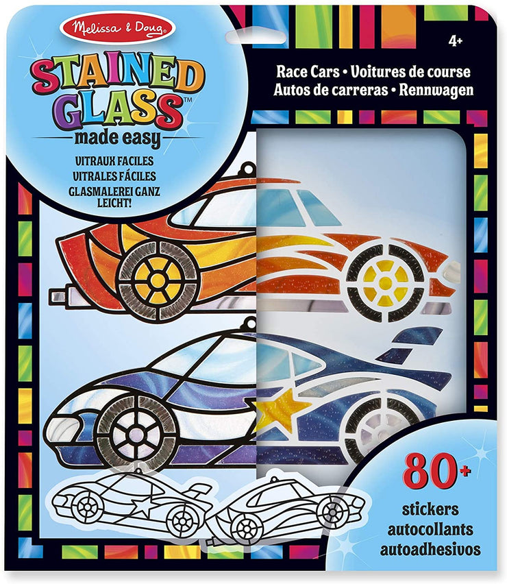 Melissa and Doug Stained Glass Made Easy Race Cars