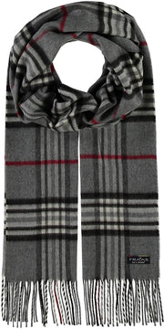 Fraas Cashmink Plaid Scrarf Grey