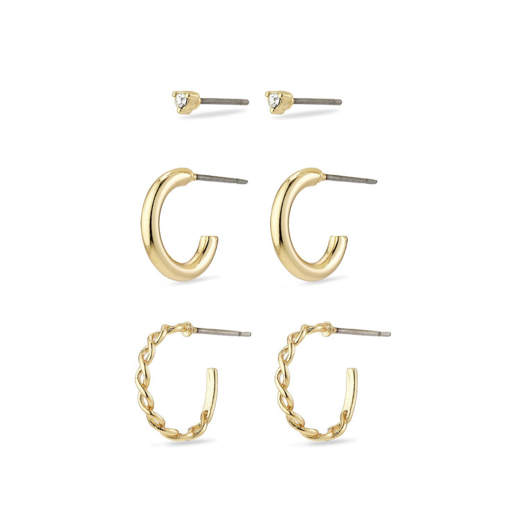 Pilgrim - Earring Set Grace Gold Plated