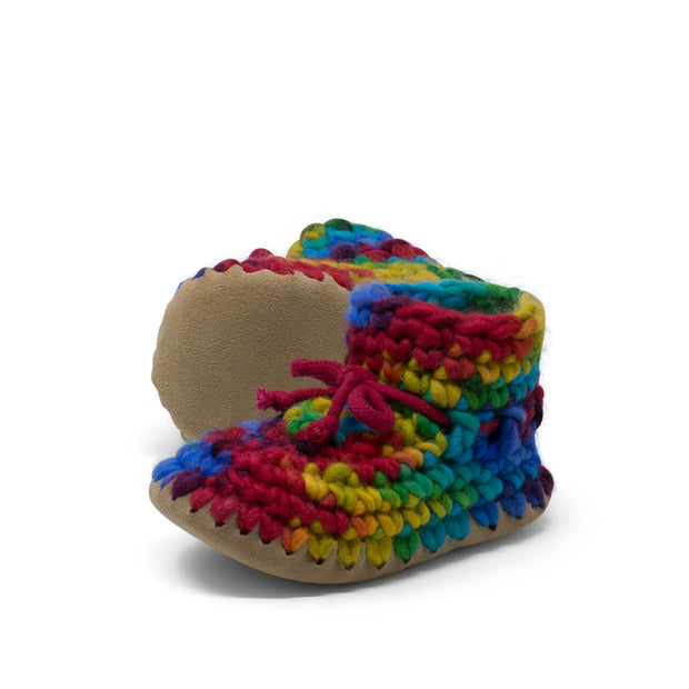 Padraig Cottage - Child Size 11 Slippers Rainbow
