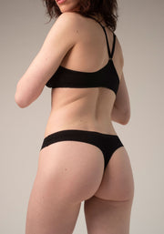 Blush Thong Black