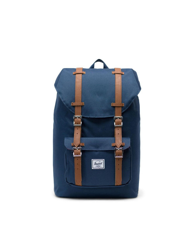 Herschel Supply - Little America Backpack  Navy/Tan Synthetic Leather