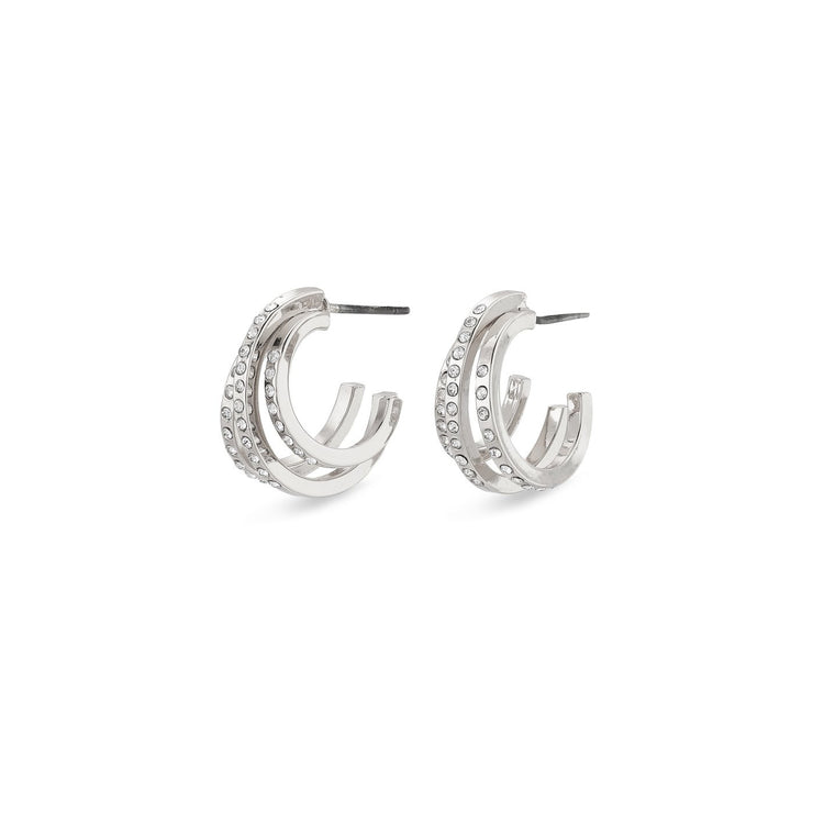 Pilgrim - Earrings Tammy Silver Plated Crystal