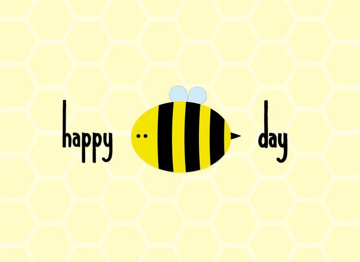 Halifax Paper Hearts Card - Happy Bee Day