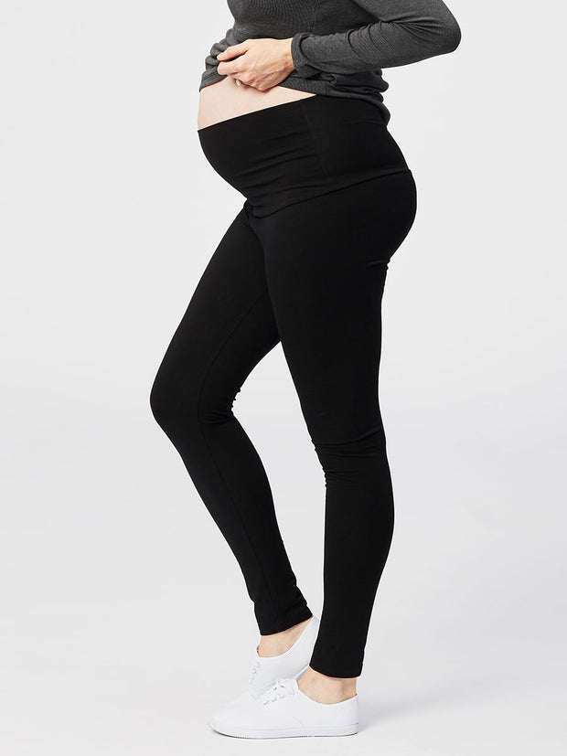 Cake Maternity Cookie Maternity Leggings Black