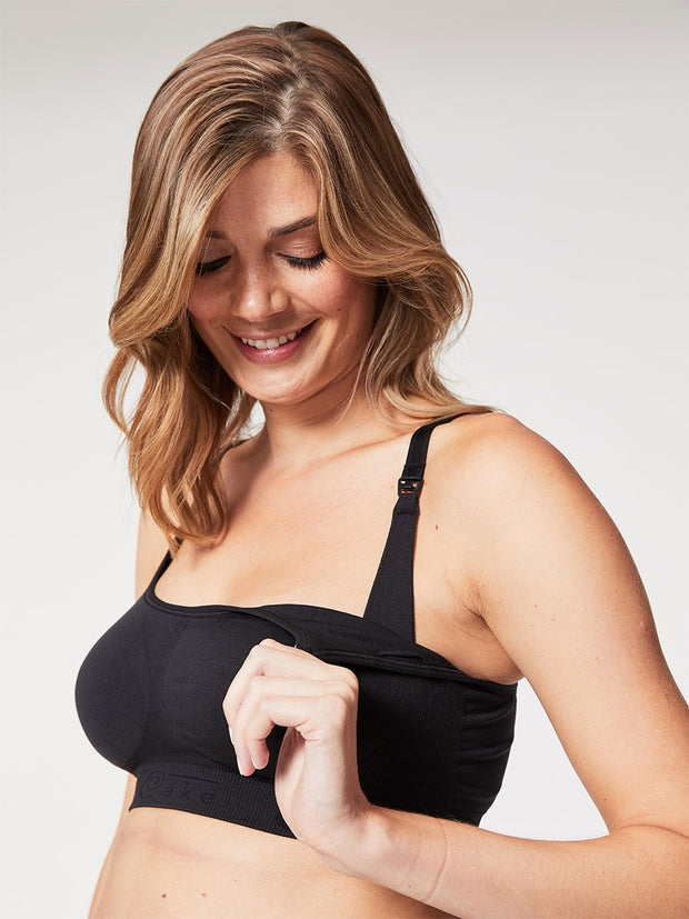 Cake Maternity - Cotton Candy Nursing Bra Black