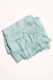 Free People - Sun Washed Travel Scarf Dusty Turqoise