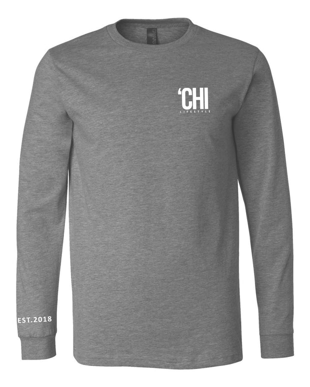 'CHI Lifestyle Long Sleeve T-Shirt Deep Heather Grey