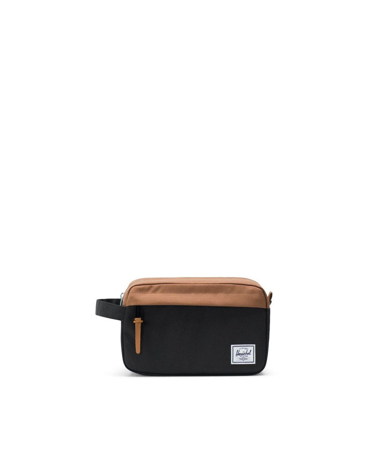 Herschel Supply - Chapter Travel Kit Black and Saddle Brown