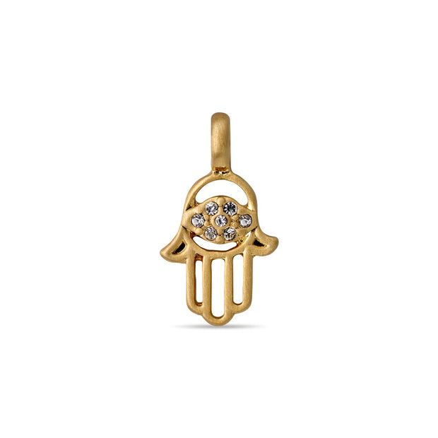 Pilgrim - Pendant Charm Crystal Hand Gold Plated