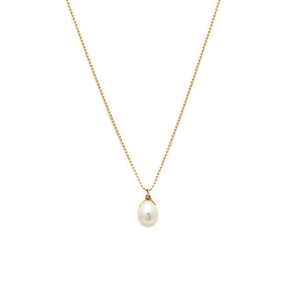 Leah Alexandra - Necklace Ola Pearl + Gold