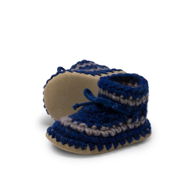 Padraig Cottage - Child Size 11 Slippers Denim Stripe