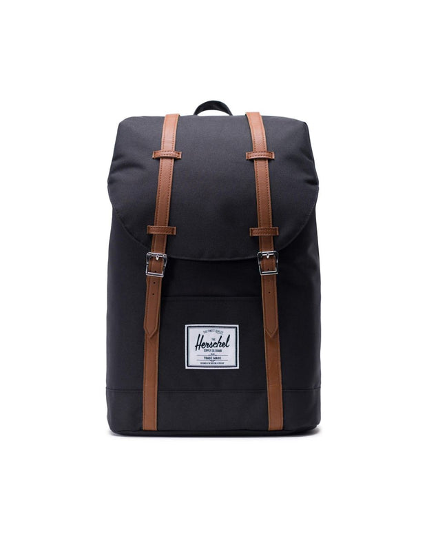 Herschel Supply - Retreat Backpack Black/Tan Synthetic Leather