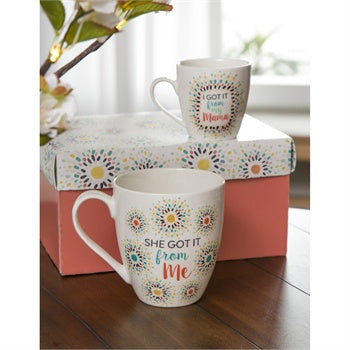 Cypress Mommy and Me Ceramic Gift Cup Set Got it From