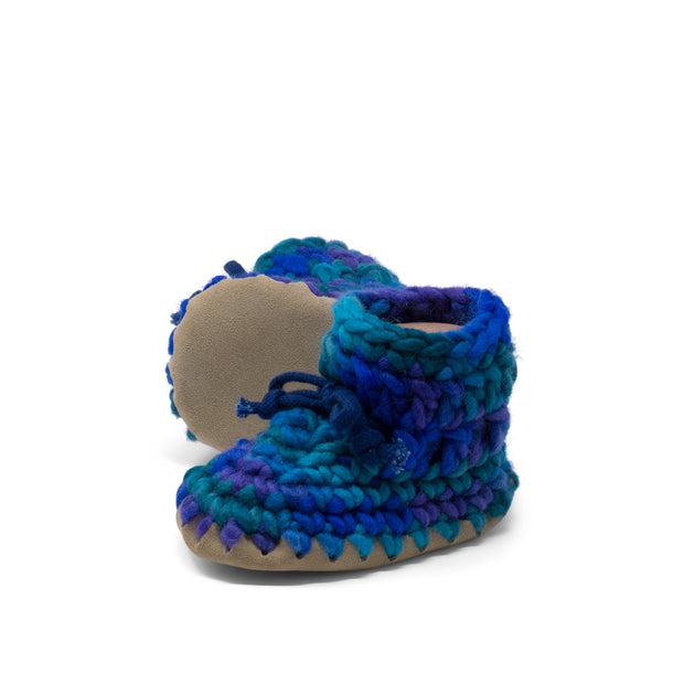Padraig Cottage - Baby Size 3 Slippers Blue Multi