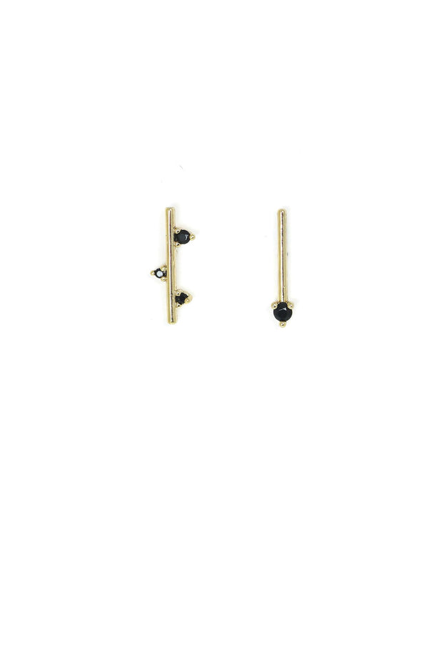 Lover's Tempo - Stellar Climber Earrings Black