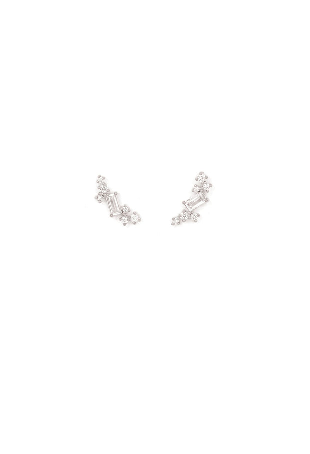 Lover's Tempo - Laurel Climber Earrings Silver