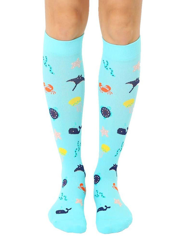 Living Royal - Compression Knee High Socks Under The Sea