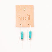 Scout Curated Wears - Rectangle Stone Earrings Turquoise/Black/Silver