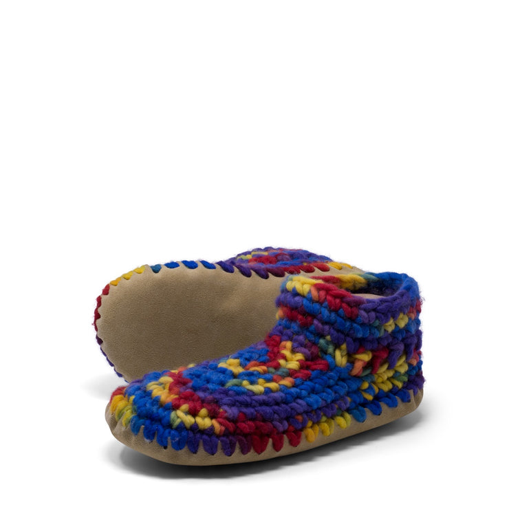 Padraig Cottage - Womens Large Slippers Rainbow