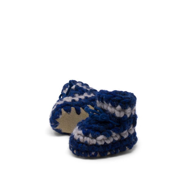Padraig Cottage - Newborn Slippers Denim Stripe