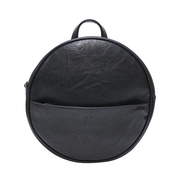 S-Q Jessa Round Convertible Backpack Black