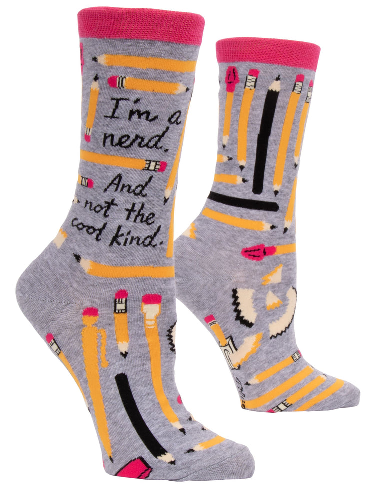 Blue Q - Women's Crew Socks I'm A Nerd