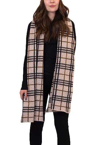 Lyla + Luxe - Scarf Camel Plaid