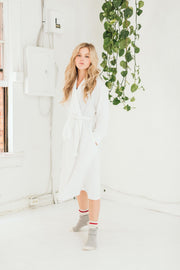 Tofino Towel - The Harmony Bath Robe Dove White